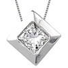 Bezel Set Solitaire Pendants