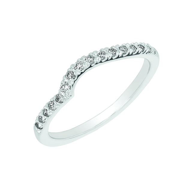 DIAMOND WEDDING BAND TO MATCH LOVE KNOT RINGS
