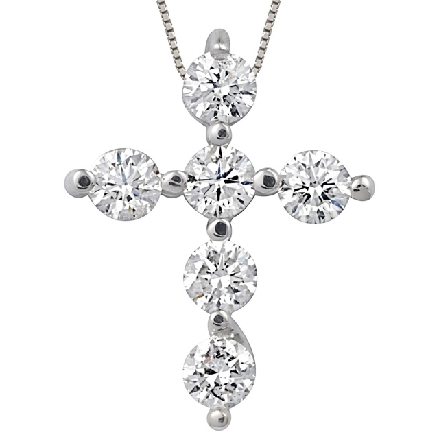 6 Diamond Cross Pendant