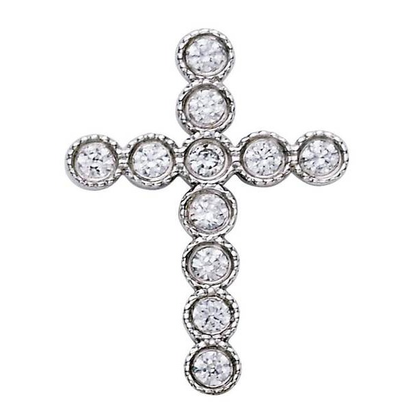 11 Diamond Milgrain Cross