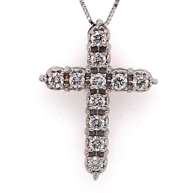 11 DIAMOND CROSS WITH MIRACLE PLATE SETTING