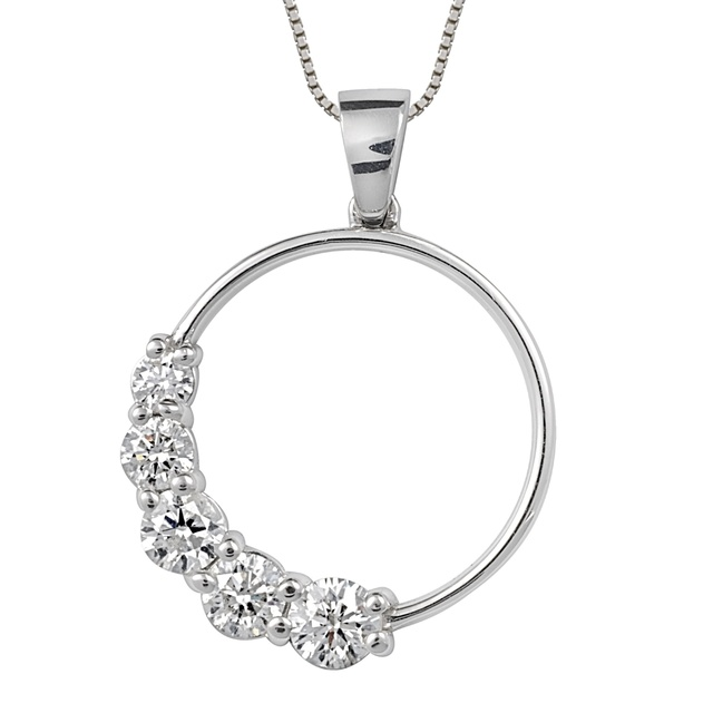 5 Diamond Circle Pendant