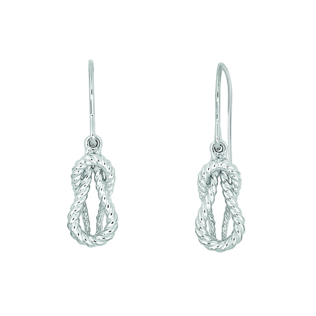 LOVE KNOT ROPE EARRINGS WITH NO DIAMONDS