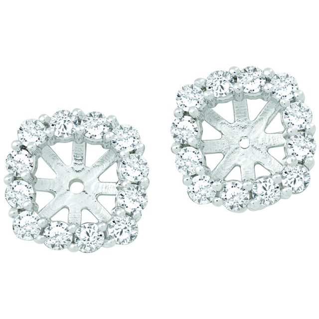 Diamond Earring Jackets To Hold Cushion Cut Studs