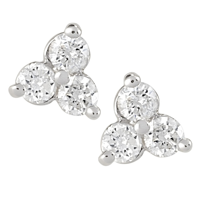 Diamond Tri Earrings