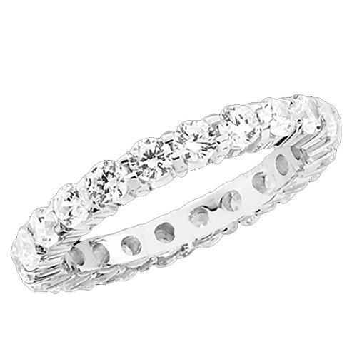 SHARED PRONG MACHINE SET ETERNITY BAND
