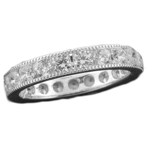 CHANNEL SET MACHINE SET MILGRAIN ETERNITY BAND