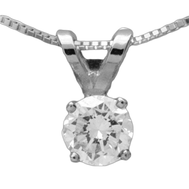 4 Prong Diamond Stud Pendant