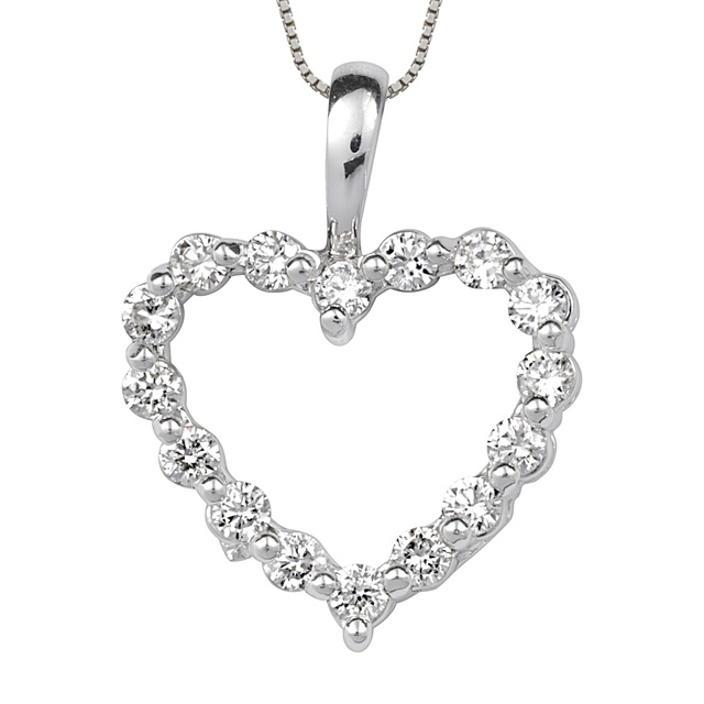 16 Diamond Heart Shaped Pendant