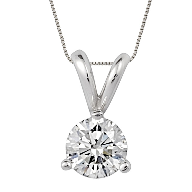 3 Prong Diamond Stud Pendant