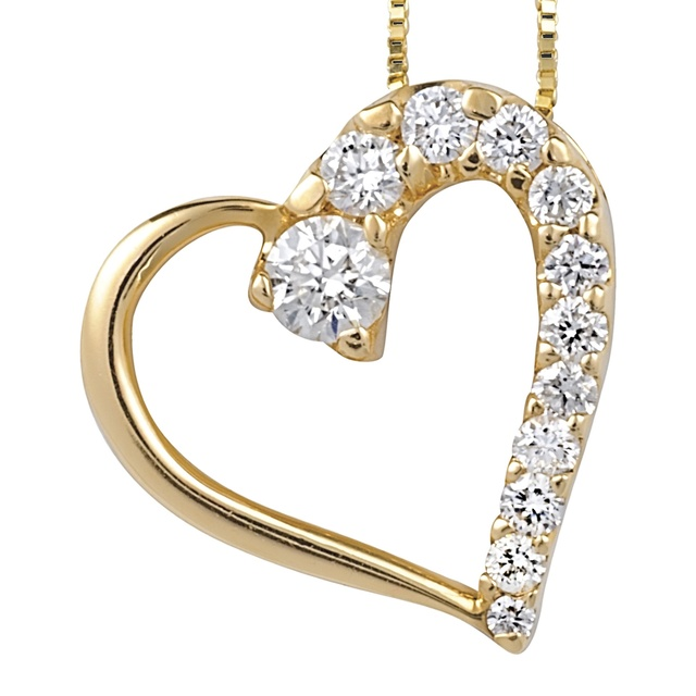 12 Diamond Heart Shaped Pendant