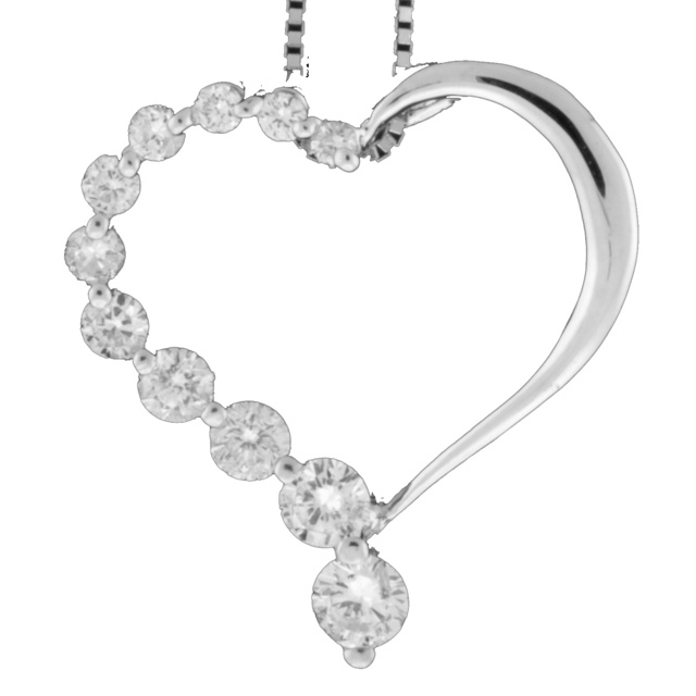 11 Diamond Heart Shaped Pendant