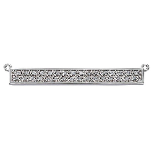 Bar Pendant with Round Diamonds