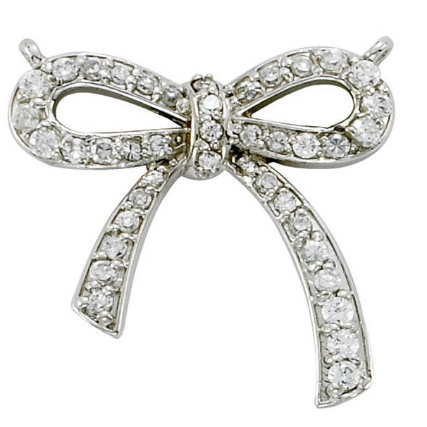 Diamond Bow Pendant