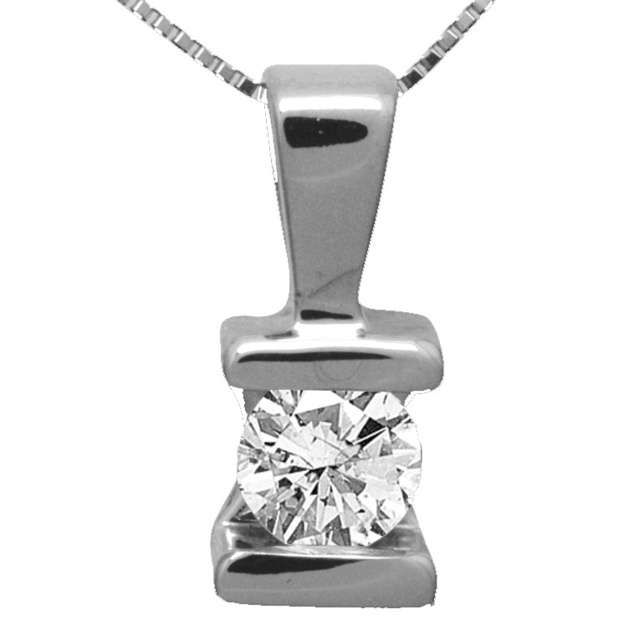 Bar Set Round Diamond Pendant