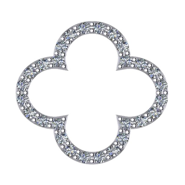 Clover Shaped Diamond Pendant