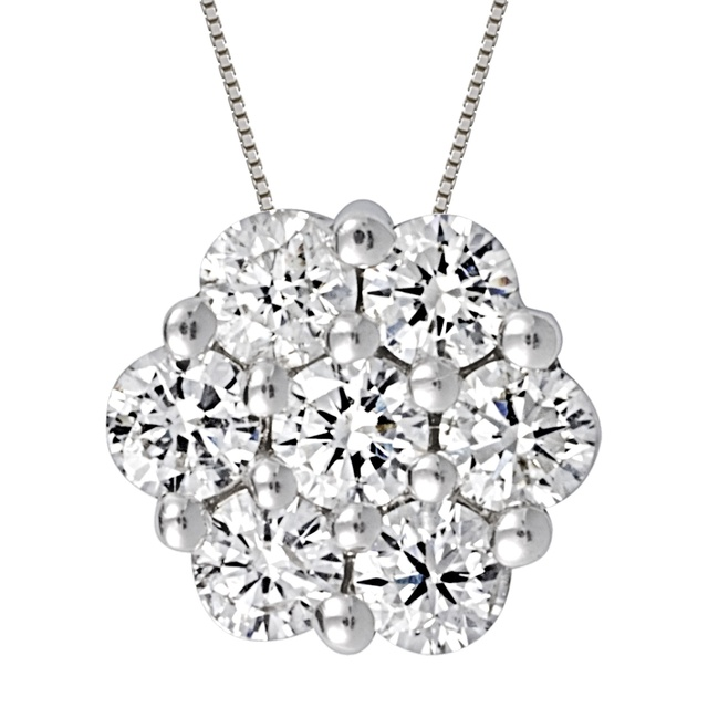 Midwest diamond distributors cluster diamond pendants 7 diamond cluster pendant aloadofball Gallery