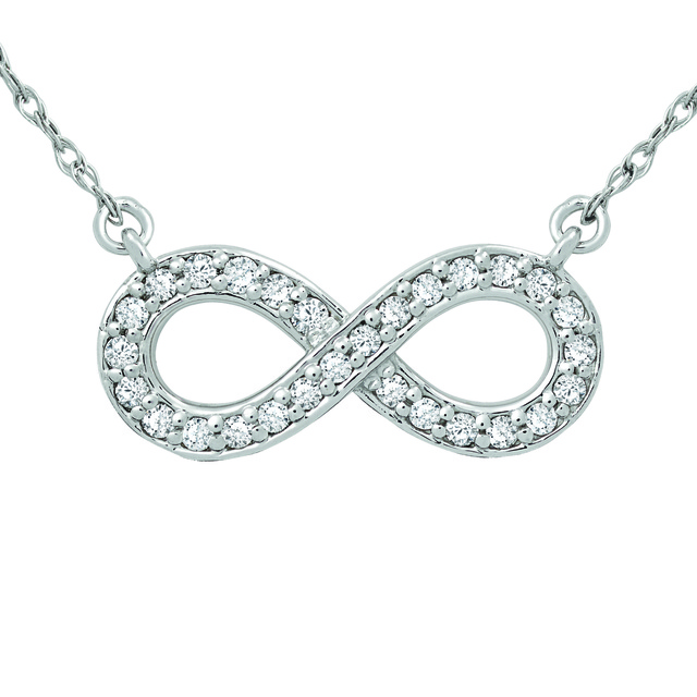 Infinity Shaped Diamond Pendants
