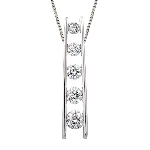 5 Diamond Ladder Journey Pendant