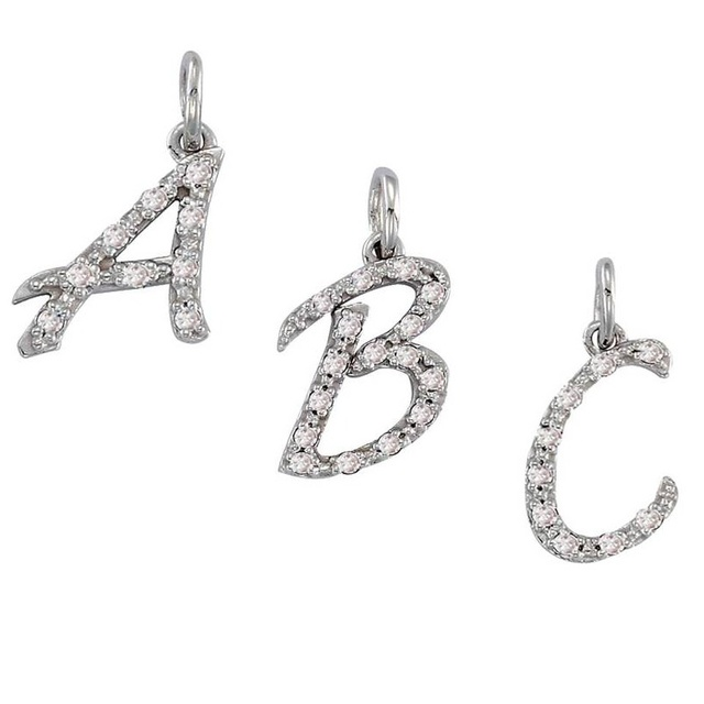 Letter Diamond Pendant