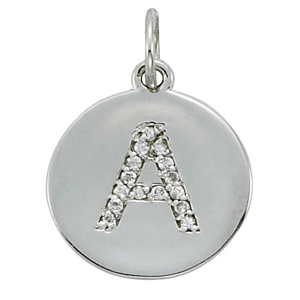 Uppercase Letter Diamond Pendants