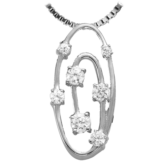7 Diamond Oval Shaped Journey Pendant