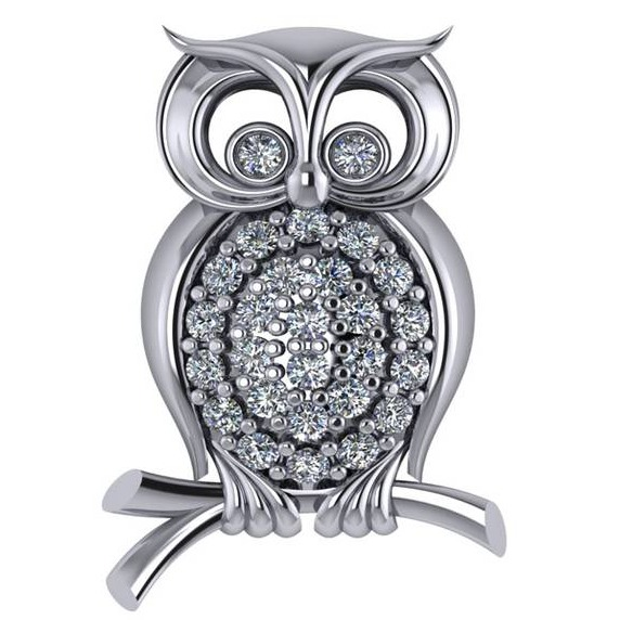 Owl Diamond Pendant