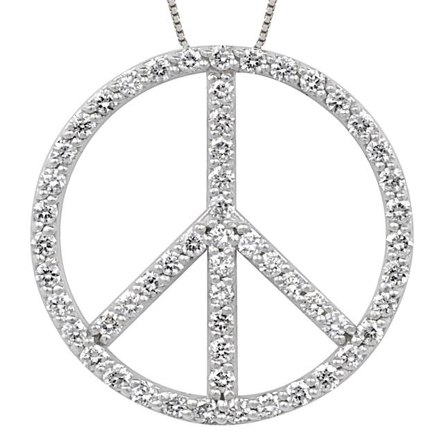 Midwest diamond distributors peace sign pendants peace sign diamond pendant mozeypictures Choice Image