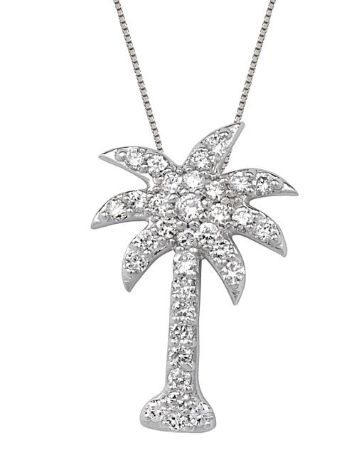 Midwest diamond distributors palm trees diamond palm tree pendant aloadofball Images