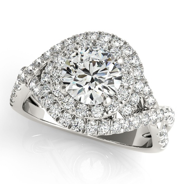 DIAMOND HALO ENGAGEMENT RING TO HOLD 1.00CT ROUND