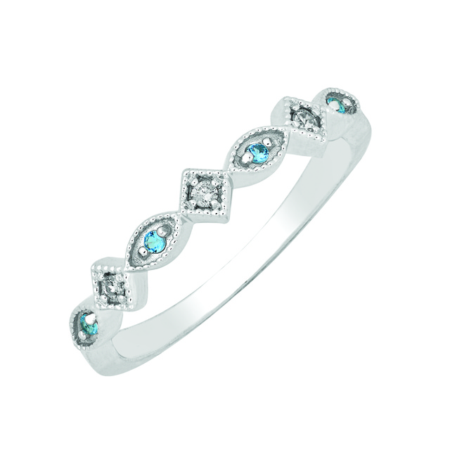 DIAMOND STACKABLE BIRTHSTONE RING
