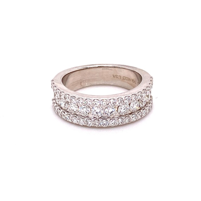 CHANNEL SET DIAMOND BAND WITH ROUND ACCENTS